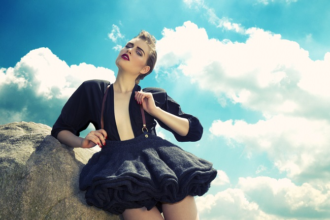 blue sky, fashion make-up, Holland, photoshoot